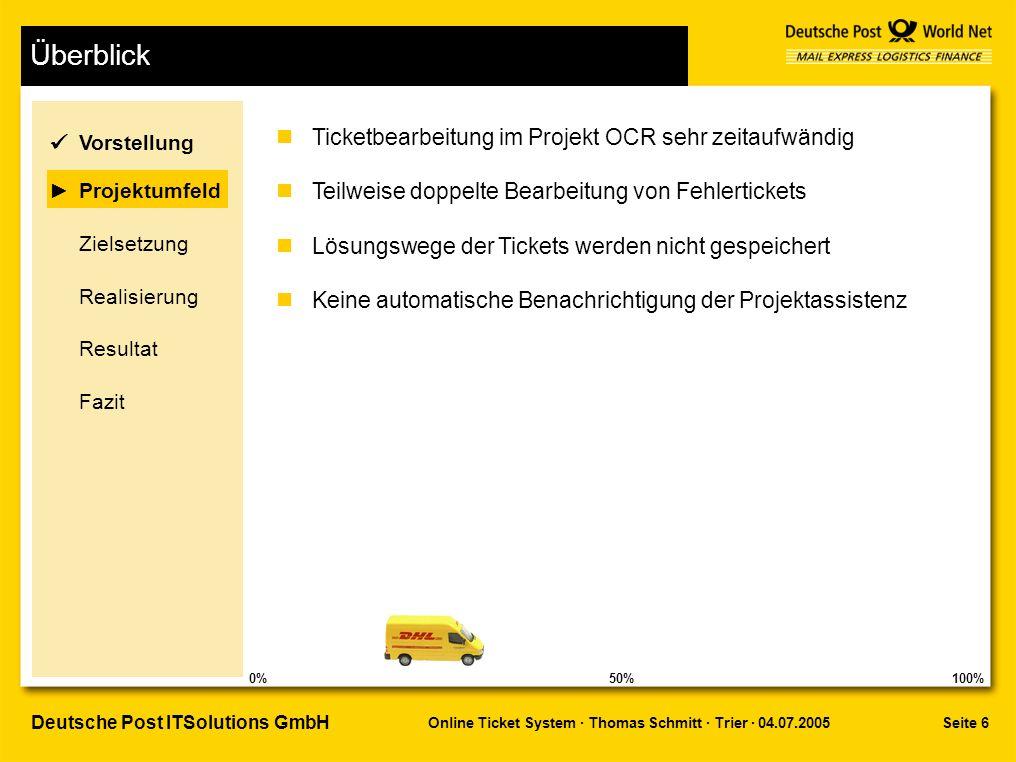 Überblick ü Ticketbearbeitung im Projekt OCR sehr zeitaufwändig
