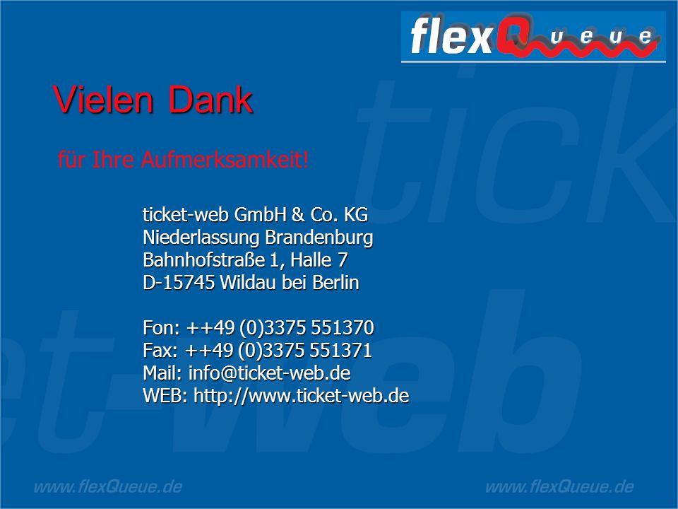 Vielen Dank für Ihre Aufmerksamkeit! ticket-web GmbH & Co. KG
