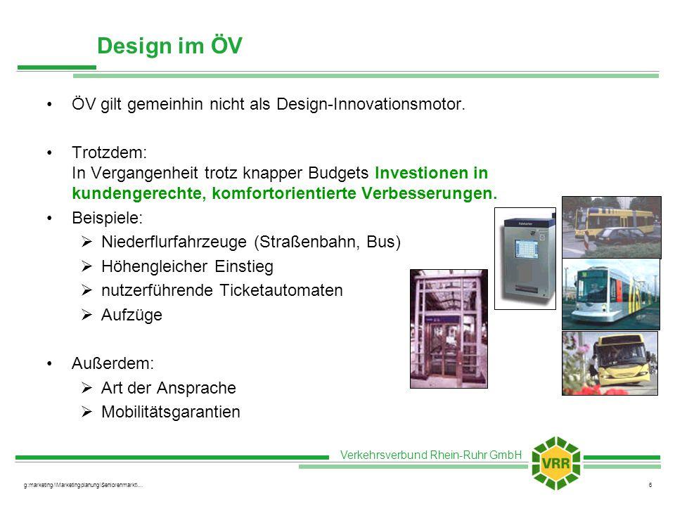 Design im ÖV ÖV gilt gemeinhin nicht als Design-Innovationsmotor.