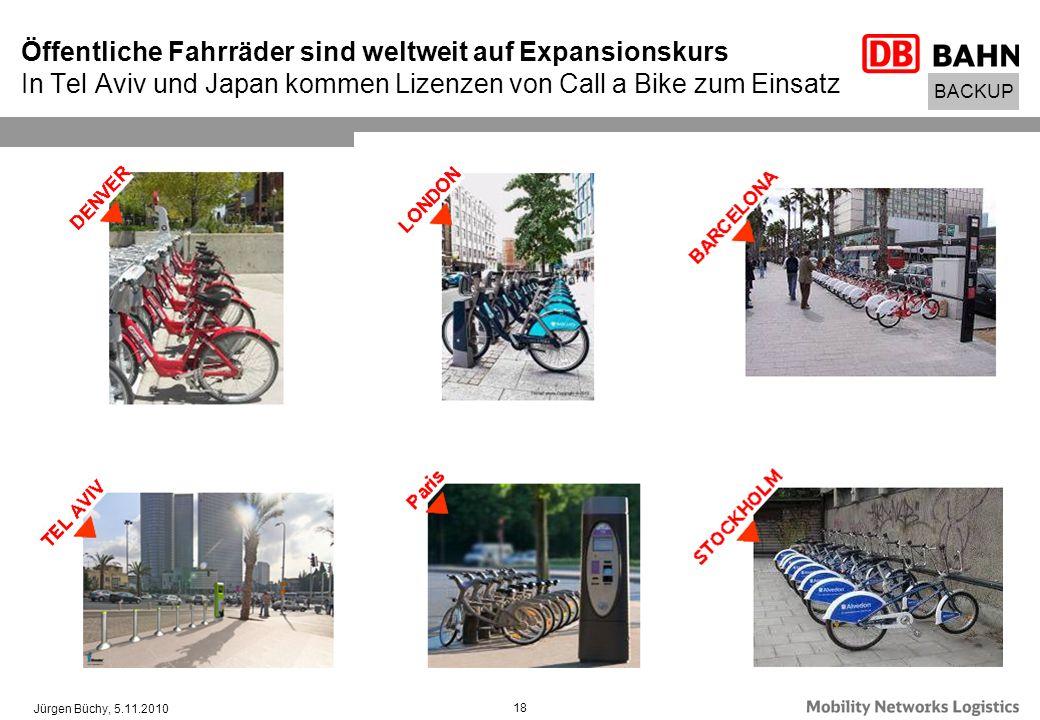 Öffentliche Fahrräder sind weltweit auf Expansionskurs In Tel Aviv und Japan kommen Lizenzen von Call a Bike zum Einsatz