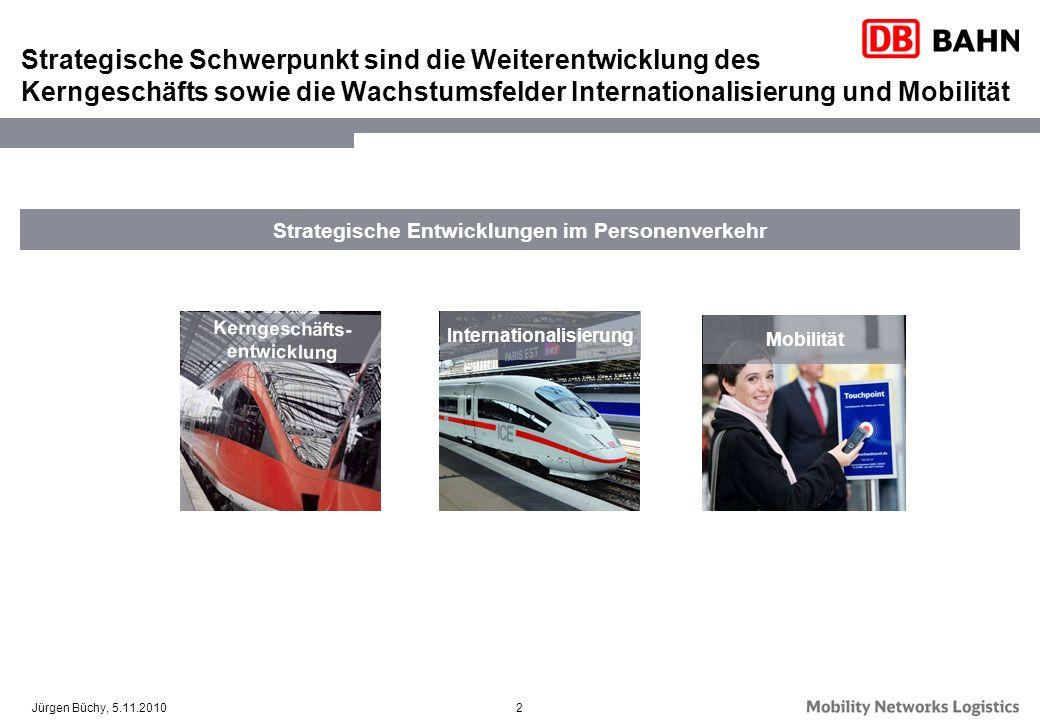 Strategische Entwicklungen im Personenverkehr Internationalisierung