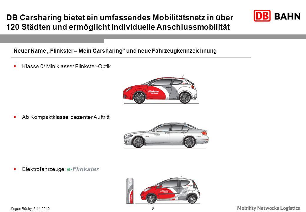 DB Carsharing bietet ein umfassendes Mobilitätsnetz in über 120 Städten und ermöglicht individuelle Anschlussmobilität