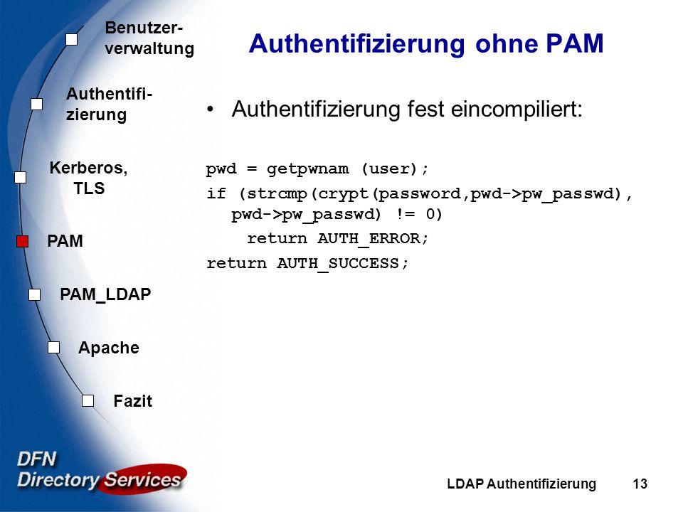 Authentifizierung ohne PAM