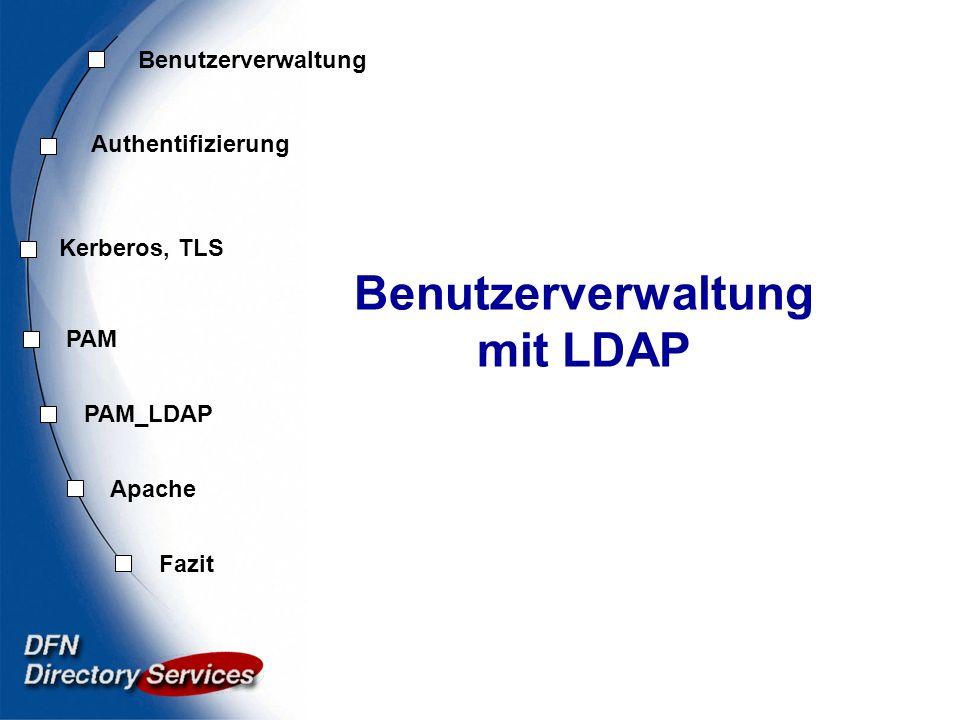 Benutzerverwaltung mit LDAP