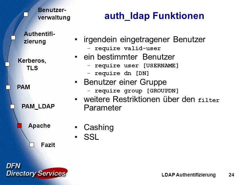 auth_ldap Funktionen irgendein eingetragener Benutzer