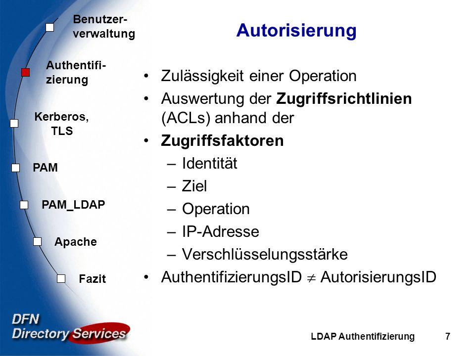 Autorisierung Zulässigkeit einer Operation