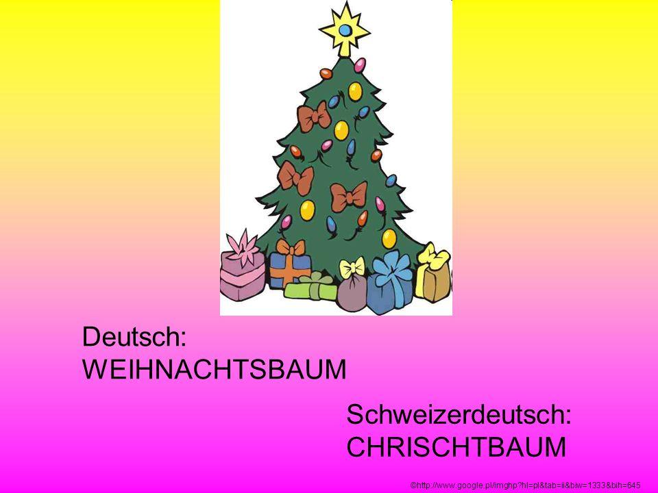 Deutsch: WEIHNACHTSBAUM