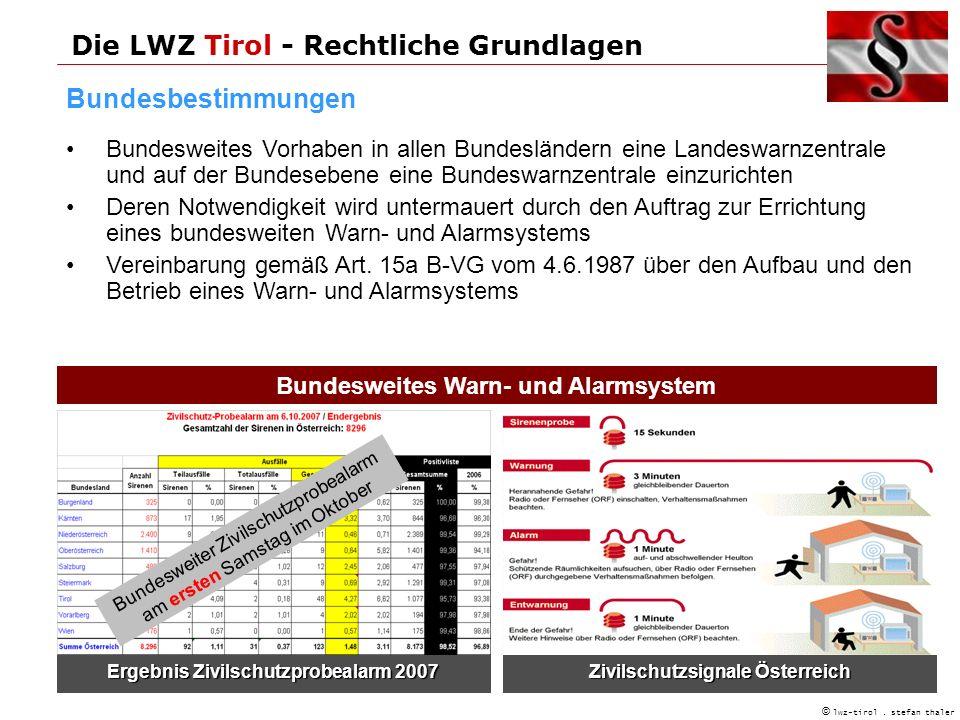 Die LWZ Tirol - Rechtliche Grundlagen