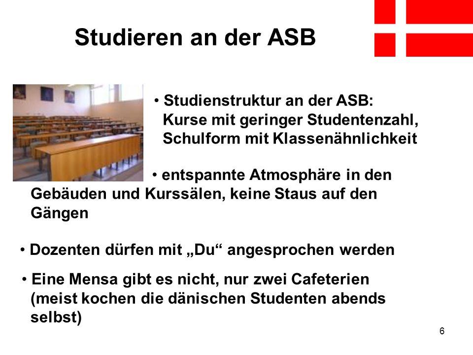Studieren an der ASB Studienstruktur an der ASB: