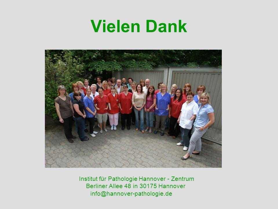 Vielen Dank Institut für Pathologie Hannover - Zentrum