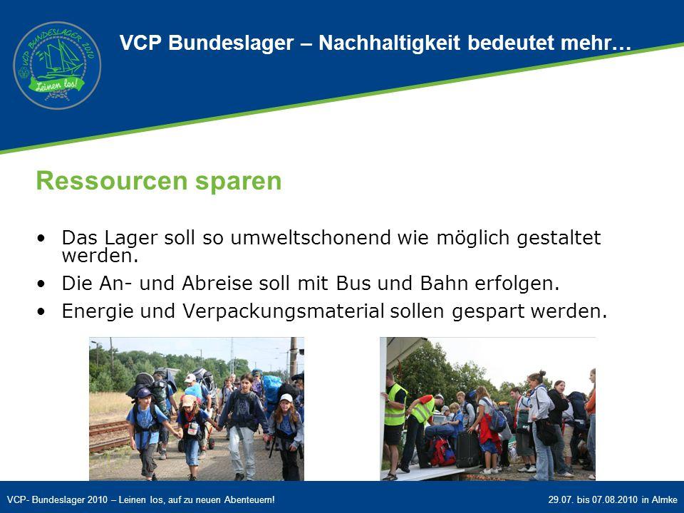 VCP Bundeslager – Nachhaltigkeit bedeutet mehr…