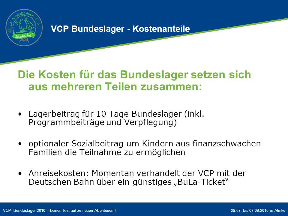 VCP Bundeslager - Kostenanteile