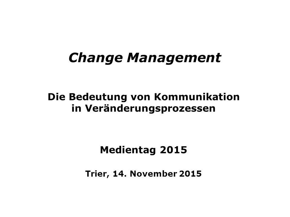 Die Bedeutung von Kommunikation in Veränderungsprozessen