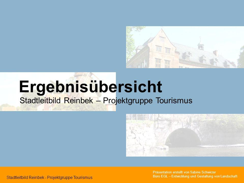 Ergebnisübersicht Stadtleitbild Reinbek – Projektgruppe Tourismus