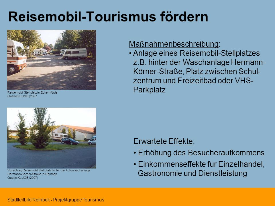 Reisemobil-Tourismus fördern