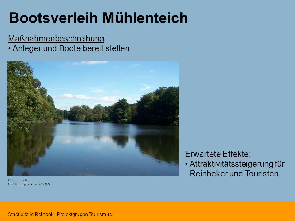 Bootsverleih Mühlenteich