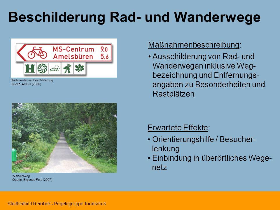 Beschilderung Rad- und Wanderwege