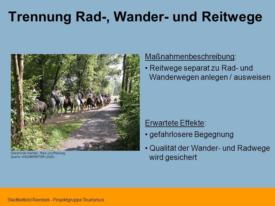 Trennung Rad-, Wander- und Reitwege