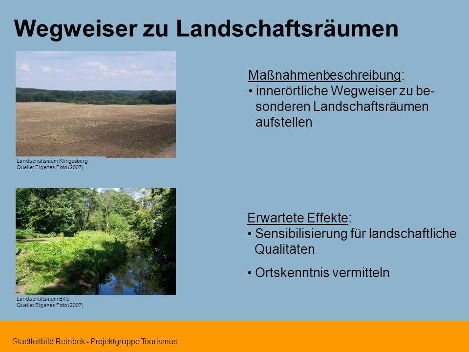 Wegweiser zu Landschaftsräumen