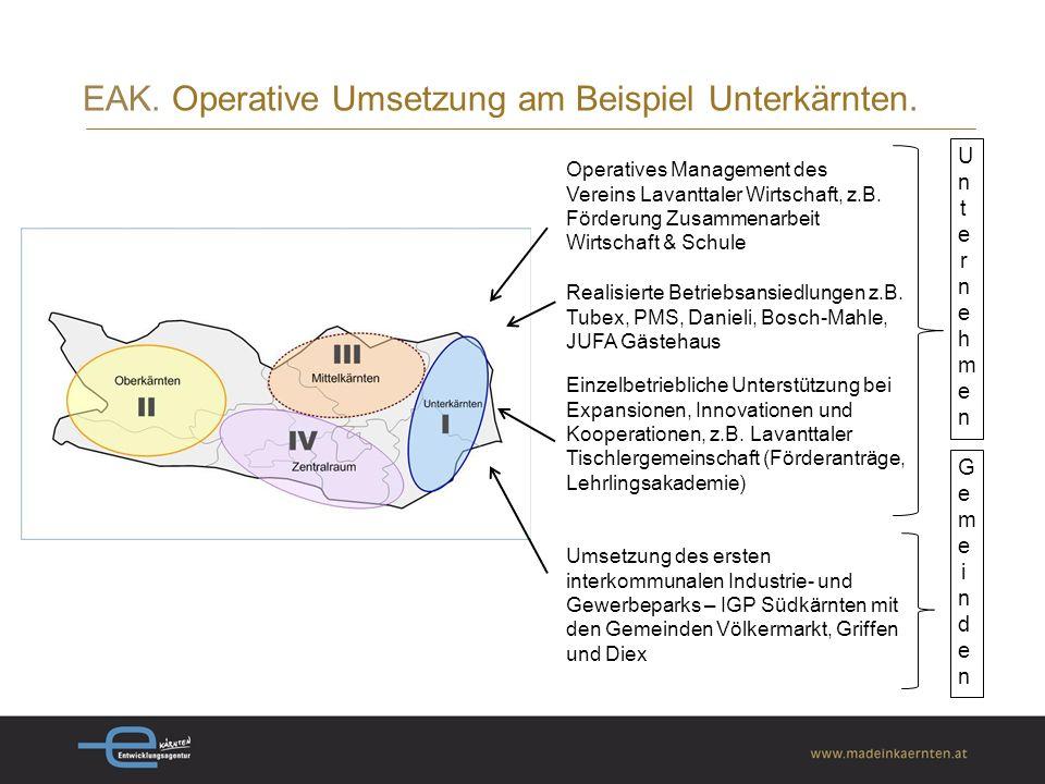 EAK. Operative Umsetzung am Beispiel Unterkärnten.