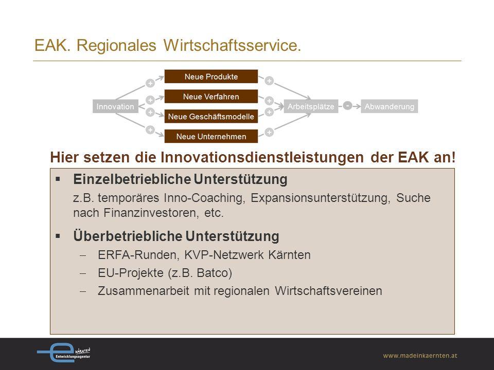 EAK. Regionales Wirtschaftsservice.