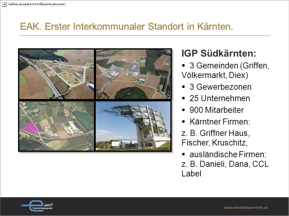 EAK. Erster Interkommunaler Standort in Kärnten.
