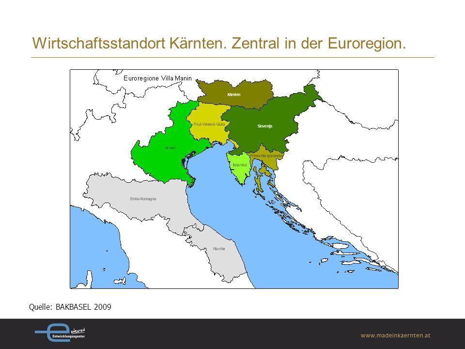 Wirtschaftsstandort Kärnten. Zentral in der Euroregion.