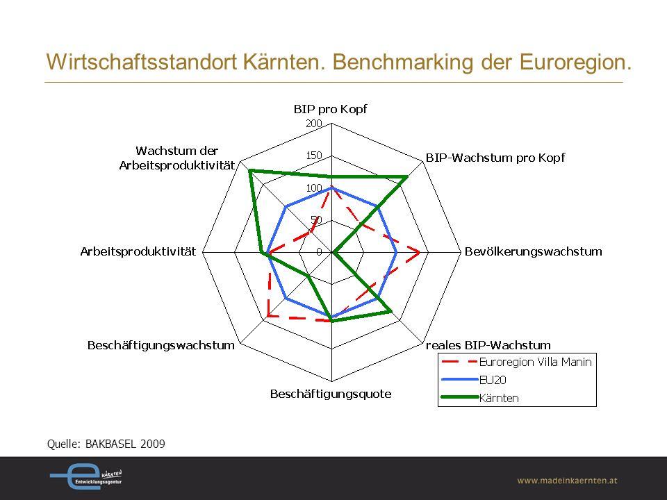Wirtschaftsstandort Kärnten. Benchmarking der Euroregion.