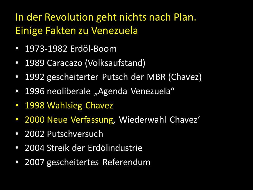In der Revolution geht nichts nach Plan. Einige Fakten zu Venezuela