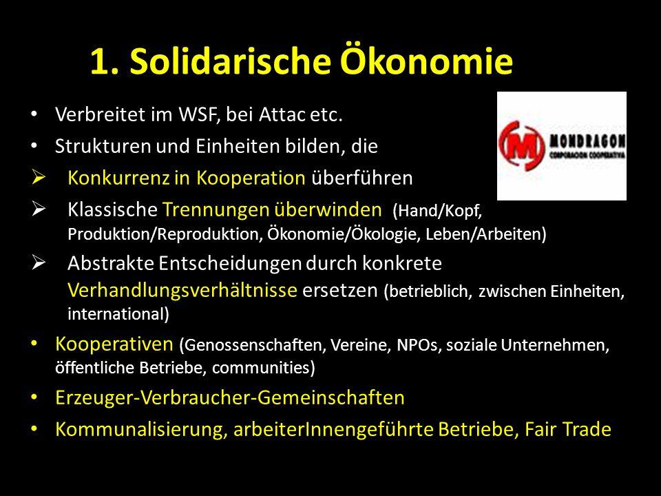 1. Solidarische Ökonomie