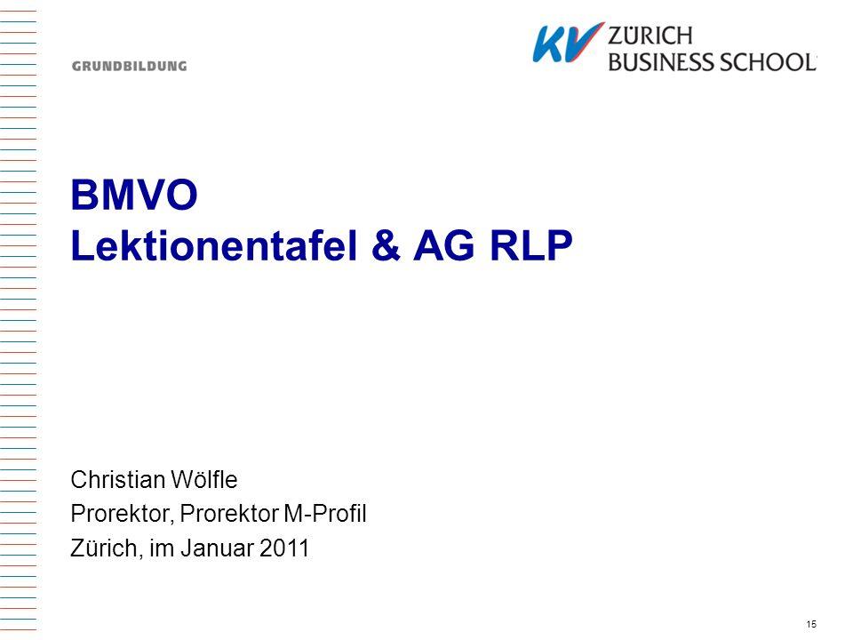 BMVO Lektionentafel & AG RLP