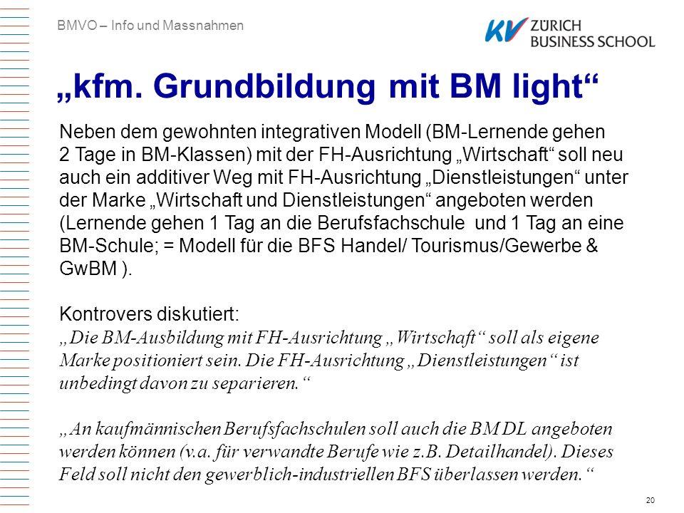 """""""kfm. Grundbildung mit BM light"""