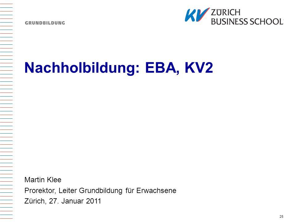 Nachholbildung: EBA, KV2