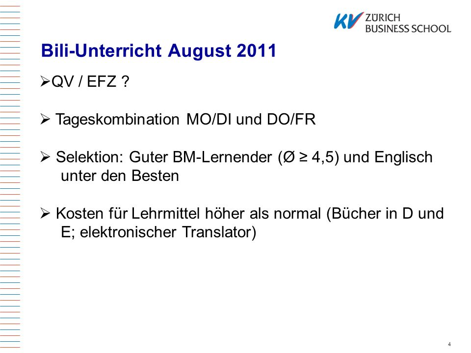 Bili-Unterricht August 2011