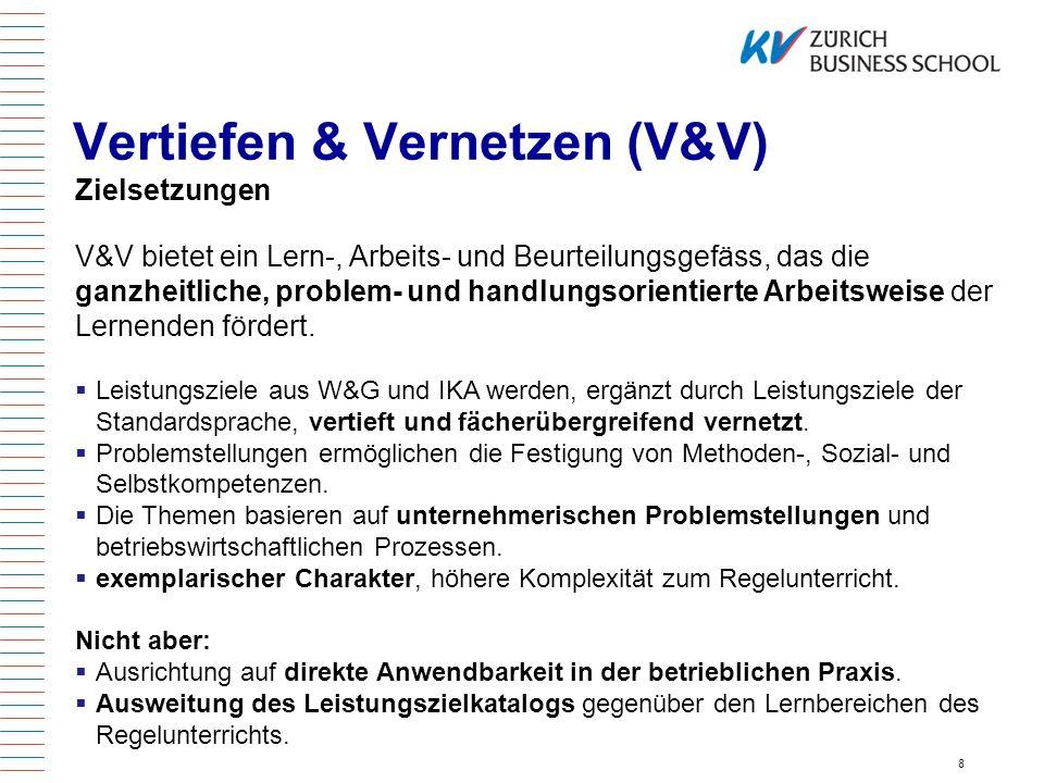 Vertiefen & Vernetzen (V&V)