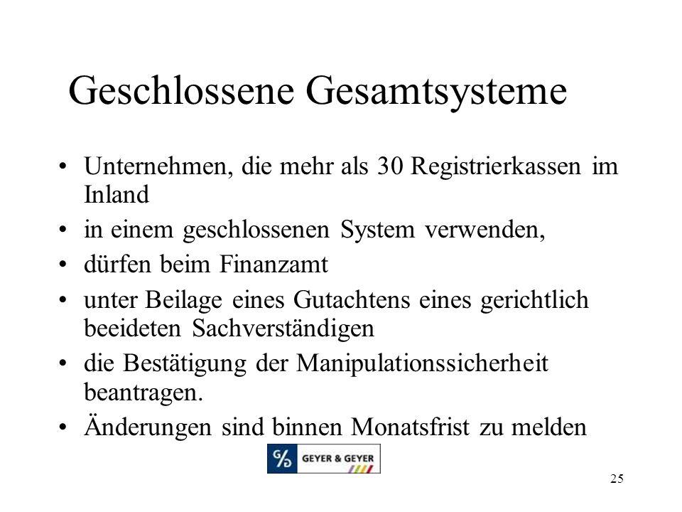 Geschlossene Gesamtsysteme