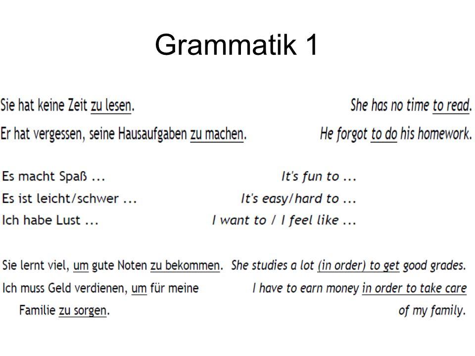 Grammatik 1