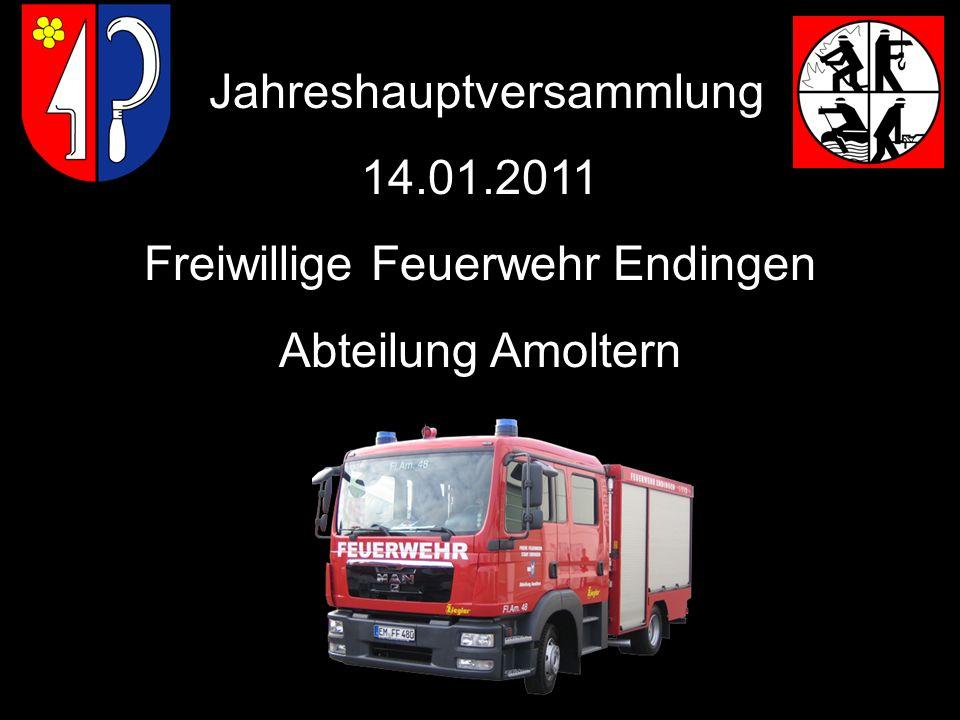 Jahreshauptversammlung 14.01.2011 Freiwillige Feuerwehr Endingen