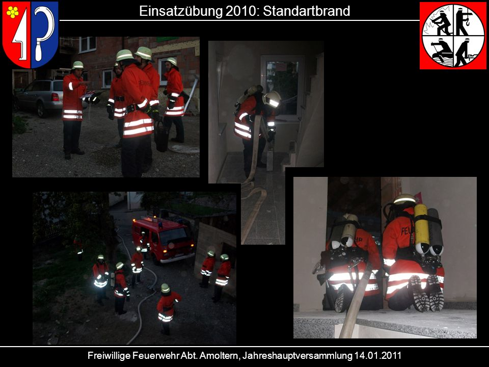 Einsatzübung 2010: Standartbrand