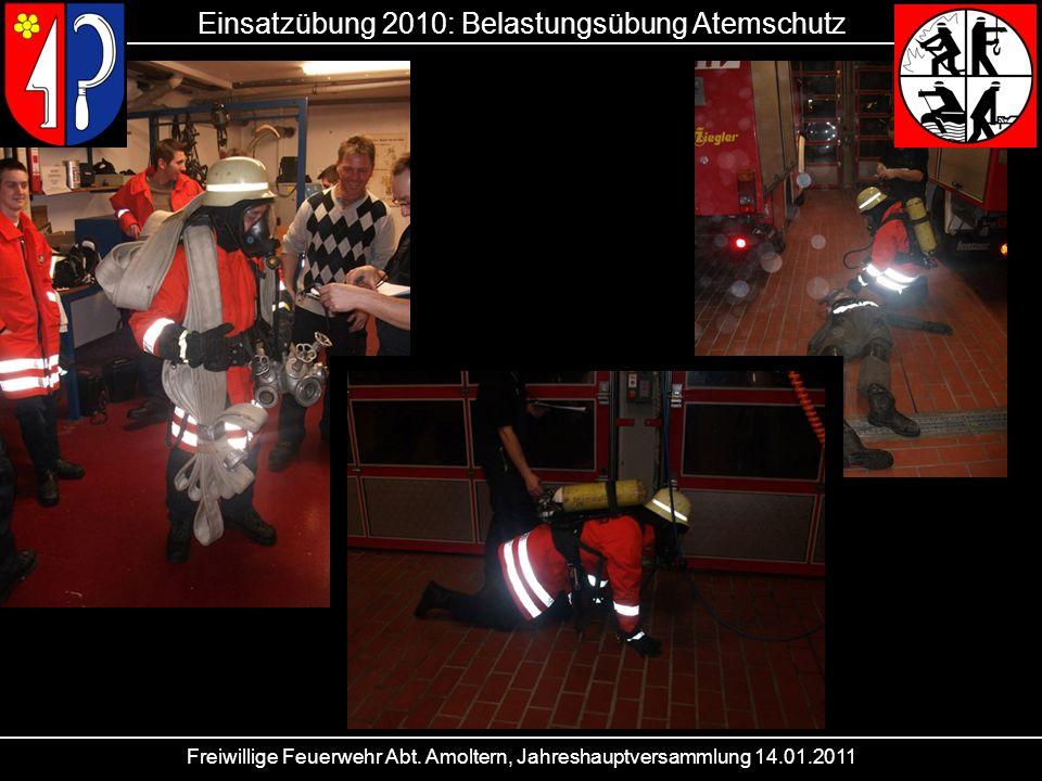 Einsatzübung 2010: Belastungsübung Atemschutz