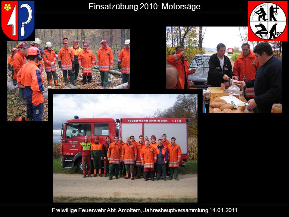Einsatzübung 2010: Motorsäge