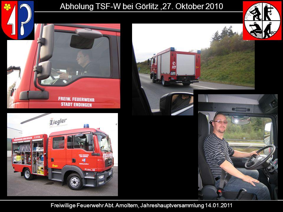 Abholung TSF-W bei Görlitz ,27. Oktober 2010