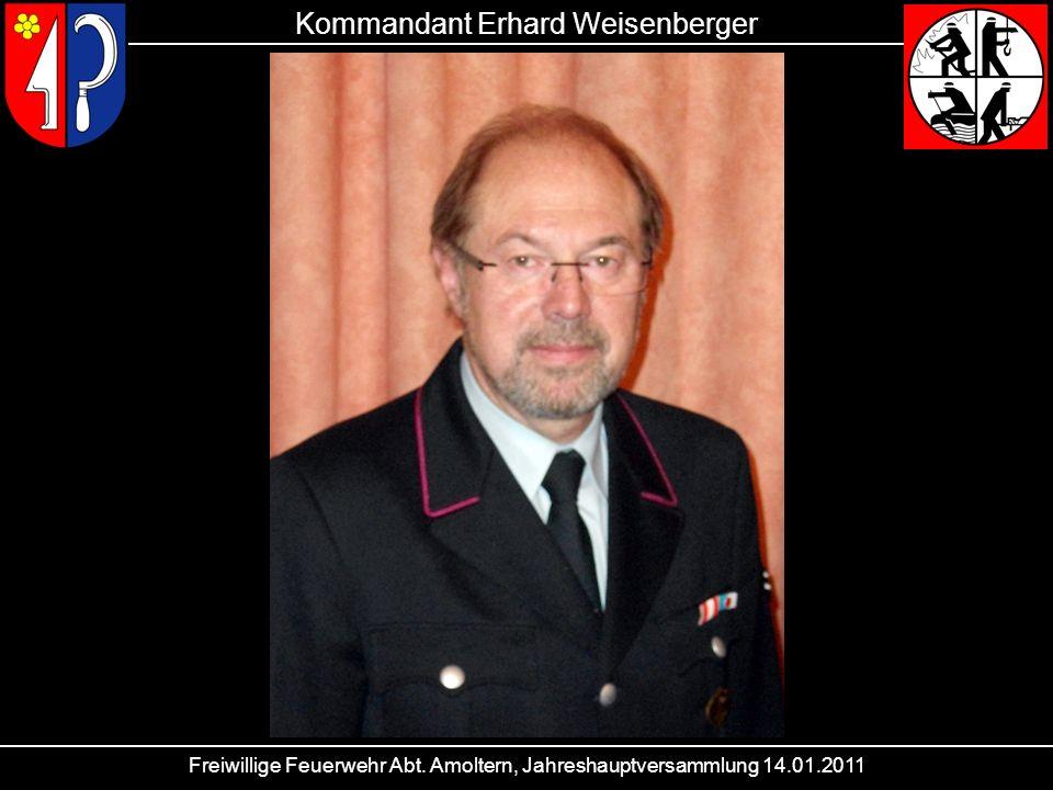 Kommandant Erhard Weisenberger
