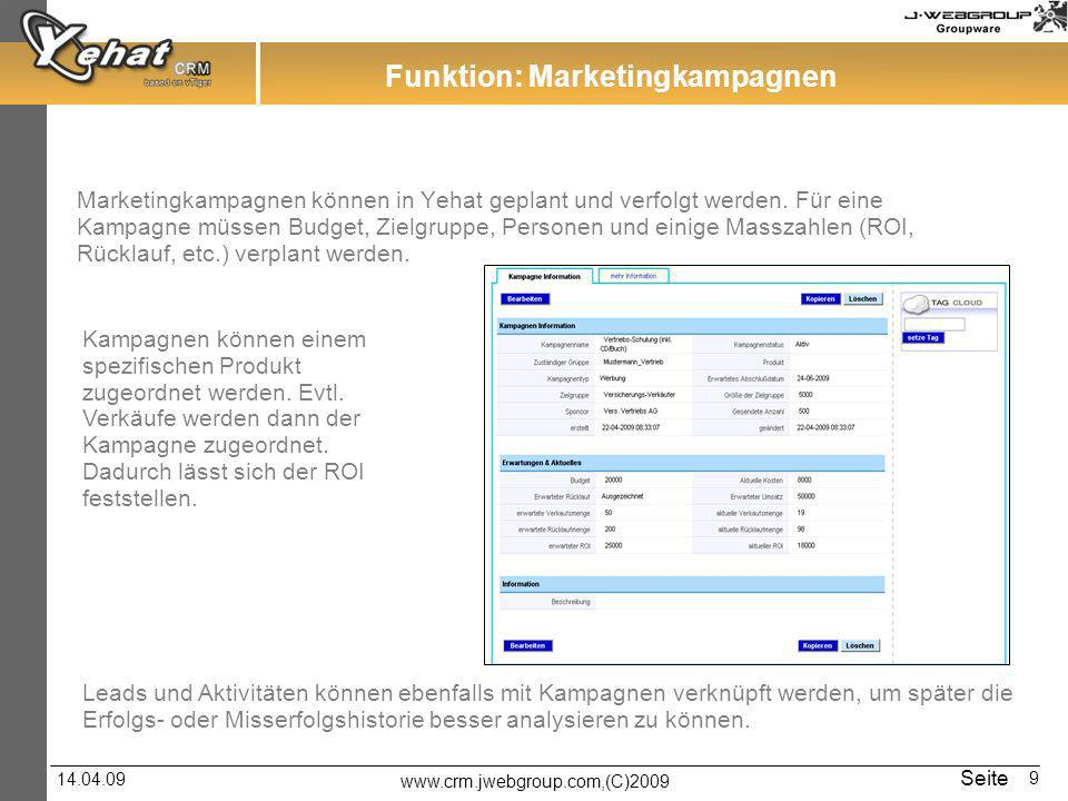 Funktion: Marketingkampagnen