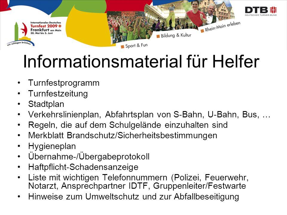 Informationsmaterial für Helfer