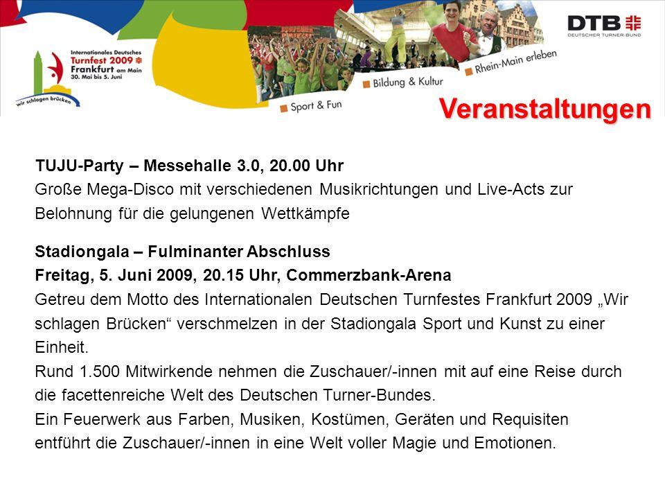 Veranstaltungen TUJU-Party – Messehalle 3.0, 20.00 Uhr