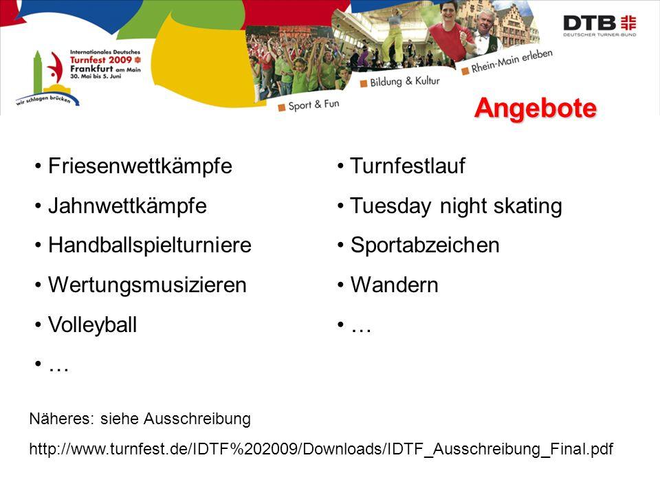 Angebote Friesenwettkämpfe Jahnwettkämpfe Handballspielturniere