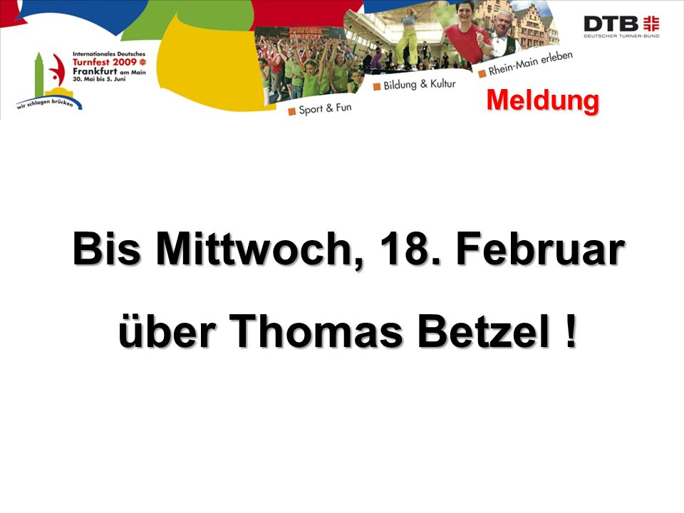 Bis Mittwoch, 18. Februar über Thomas Betzel !
