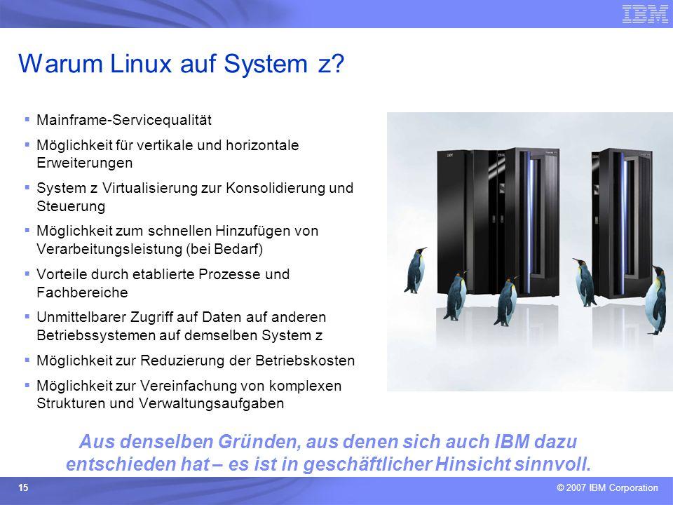 Warum Linux auf System z