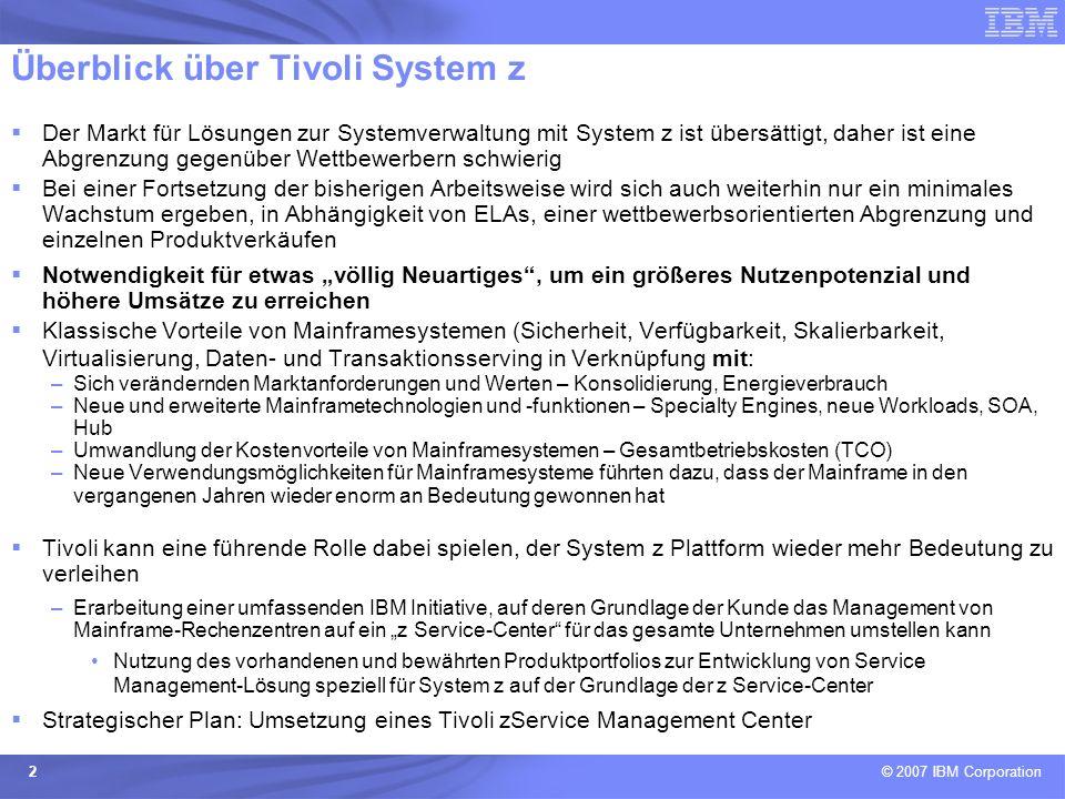 Überblick über Tivoli System z